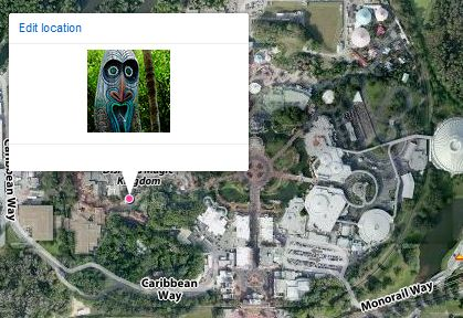 Photo Mapped to Magic Kingdom
