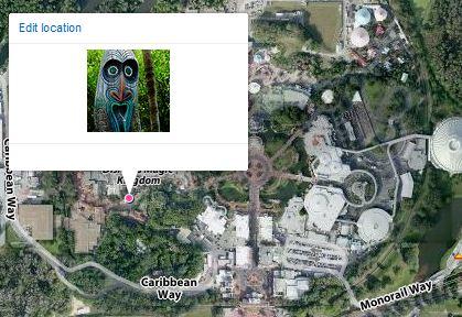 Photo Mapped to Magic Kingdom